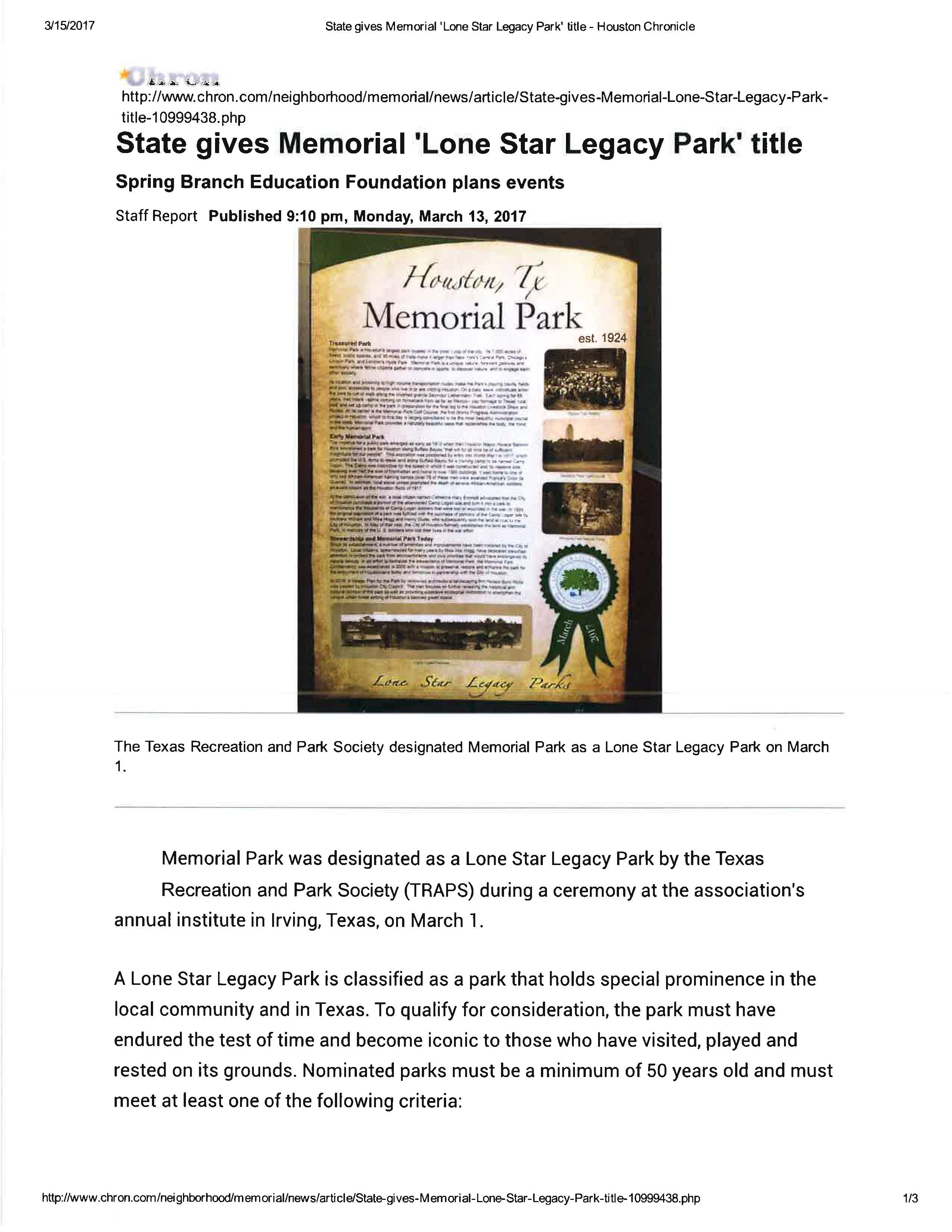 Lone Star Legacy Park Article Chron 3.13.17.docx Page 1